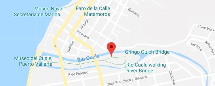 Google Map of Isla Cuale in Puerto Vallarta